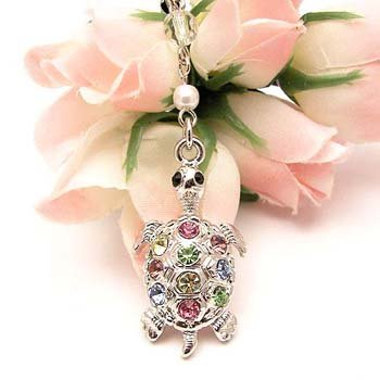 Multi King Turtle Cell Phone Charm Strap Cubic Stone from BUKIT CELL