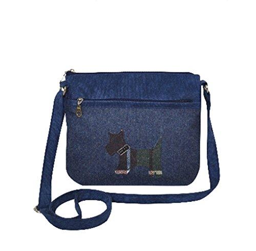 Earth Squared Scotty Dog Messenger Crossbody Bag
