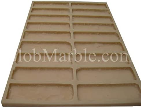"""If tears bench top mold  3//16th/"""" plastic concrete casting mould"""