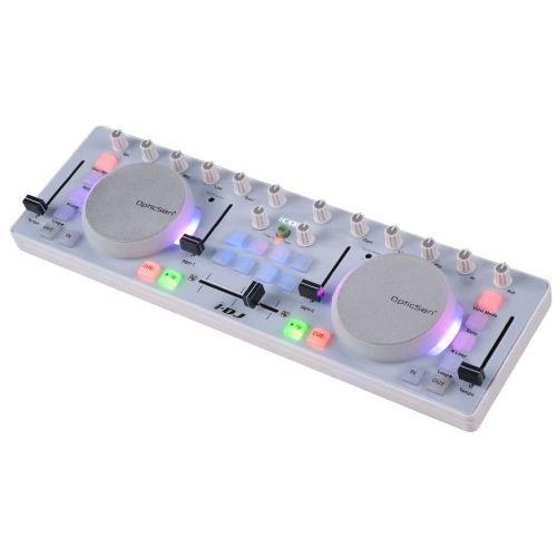 iCON i-DJ mini USB MIDI-/DJ-Controller mit Touch-Sensitive Scratch Wheels weiß
