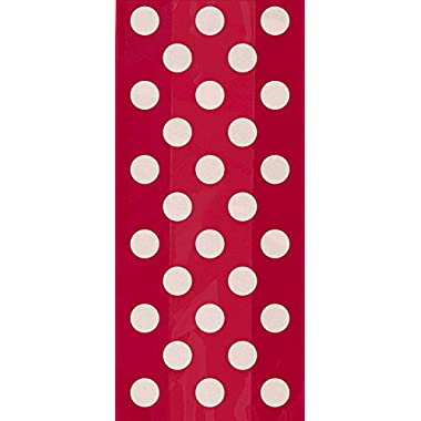 20 Count Red Polka Dot Cellophane Bags