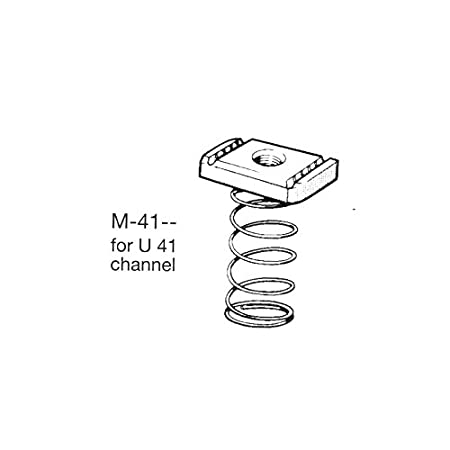 As Unistrut Pack Size 1 Oglaend M8 Long Spring Nut for Channels T316 Stainless Steel