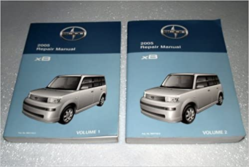 2005 scion xb factory repair manual (2 volume set): toyota motor  corporation: amazon com: books