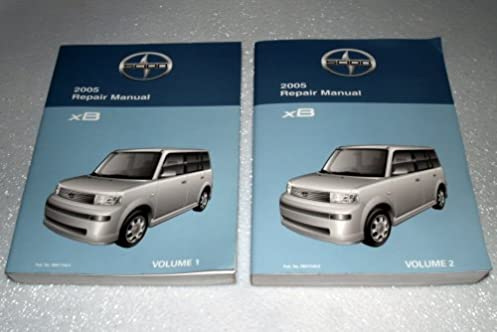 2005 scion xb factory repair manual 2 volume set toyota motor rh amazon com scion xb owners manual online scion xb owners manual 2011