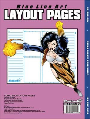 Blue Line Pro Comic Book Layout 35 Count Pack