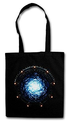 STARGATE PORTAL Hipster Shopping Cotton Bag Cestas Bolsos Bolsas de la compra reutilizables - Movie SG-1 Puerta a las Atlantis TV Series Infinity Stargate Estelar Estrellas
