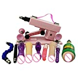 Vibrators Women Sweet Sex Machine for Women 6 S+2 Rods+1 Aircraft Cup Automatic Retractable Love Machine for Man - Black - Vibrating Collar 3v Micro Vibration Motor