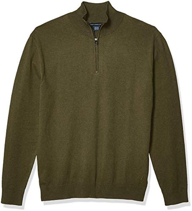 French Connection Męskie Long Sleeve Stretch Cotton Sweater Pullover: Odzież