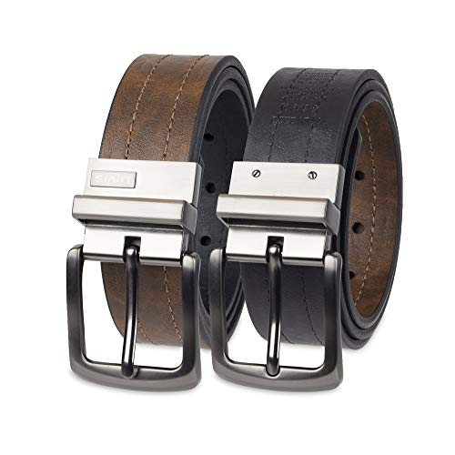- Levi's Men's Levi's 1 9/16 in. Reversible Belt (Regular and Big & Tall Sizes),Brown/Black,44