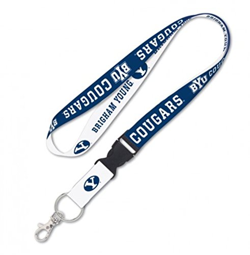 (WinCraft NCAA Brigham Young University BYU Cougars 1 inch 2-Tone Snap Buckle Lanyard )