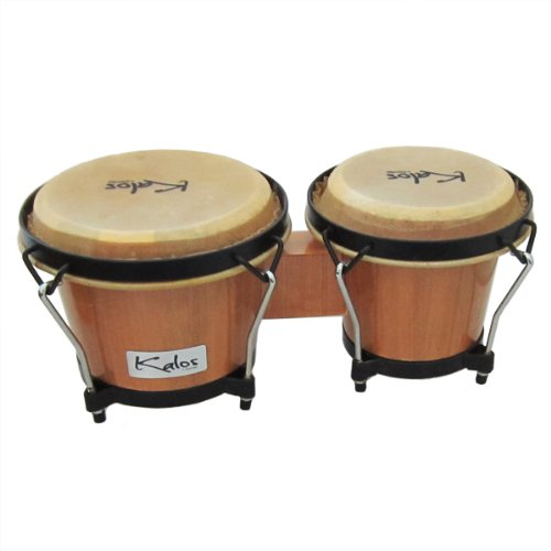 Kalos by Cecilio KP_BG67-Oak 6 X 7 Inches Bongo Drum, Oak Drum