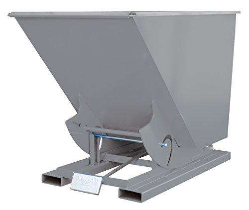 (Vestil D-50-MD-GY-SG Self-Dump MD Hopper, 0.5 cu. yd, 4000 lb. Capacity, Overall L x W x H (in.) 51-7/8
