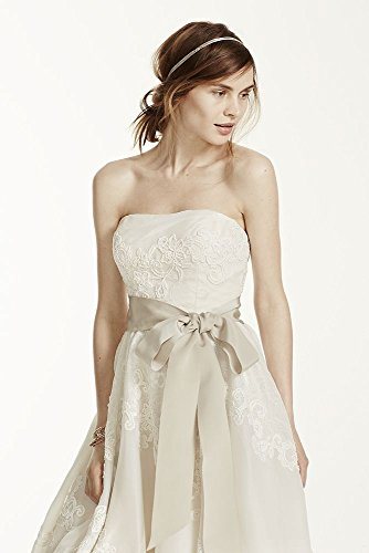 Melissa Sweet Satin Organza and Lace Wedding Dress Style MS251001 at ...