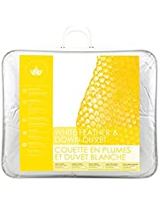 Canadian Down & Feather Co - Regular Weight White Feather & Down Duvet Queen Size - 240 TC Shell 100% Cotton - Oeko TEX Certified