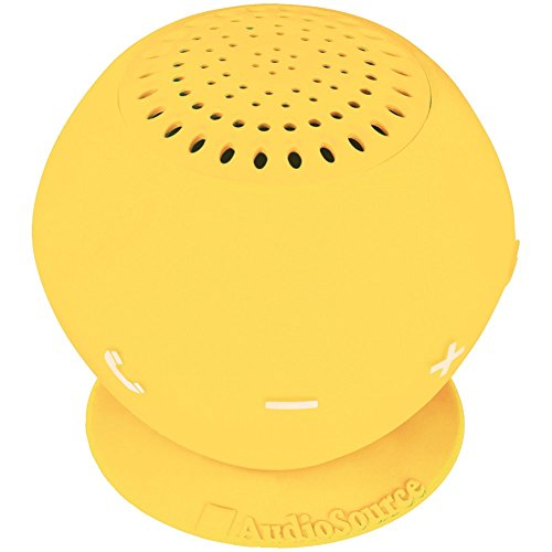 AUDIOSOURCE SP2YEL Sound pOp 2(TM) Water-Resistant Bluetooth(R) Speaker (Yellow) Computers, Electronics, Office Supplies, Computing