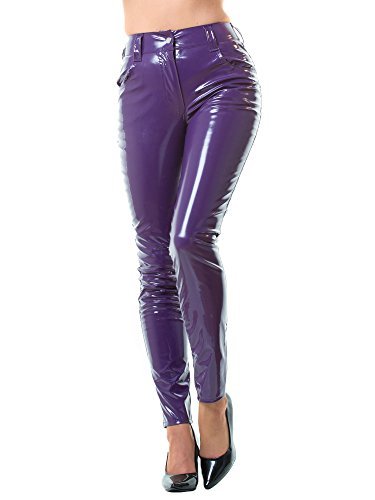 Honour Women's Jeans in PVC Purple size UK 16 (XL)
