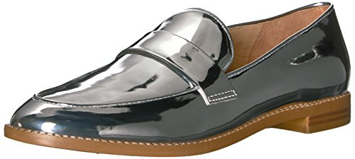 Franco Sarto Women's Hudley Loafer, silver, 8.5 Medium US
