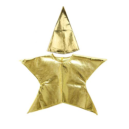 Evaliana Christmas Nativity Kids Star Costume with Hat Boys Girls Xmas Party Fancy Dress -