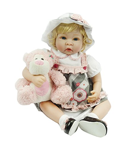 Pursue Baby Soft Touch Lifelike Weighted Toddler Princess Doll Harper and Monkey Heather, 22 Inch Real Life Reborn Toddler Girl Doll Snuggle for Children Gifts