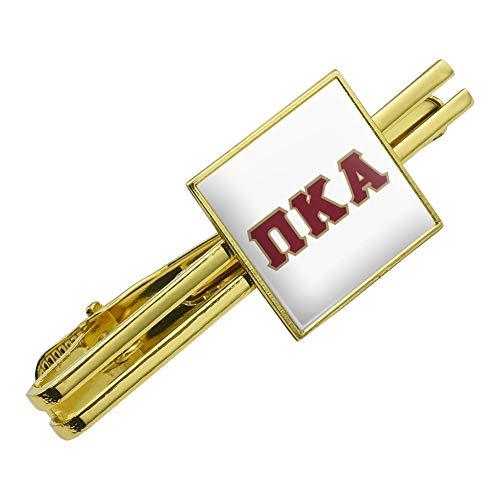 Greek Square Gold Design (GRAPHICS & MORE Pi Kappa Alpha Greek Letterform Pike Fraternity Square Tie Bar Clip Clasp Tack Gold Color)