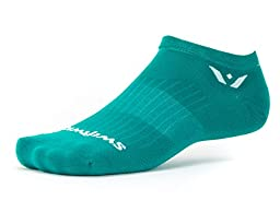 Swiftwick - Aspire ZERO, No-Show Socks for Endurance Sports, Aqua , Medium