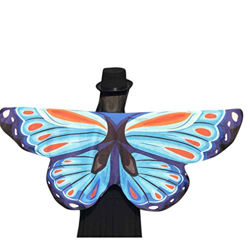 Halloween Party Soft Butterfly Wings Shawl Fairy Ladies Pixie Costume Accessory(an,one -