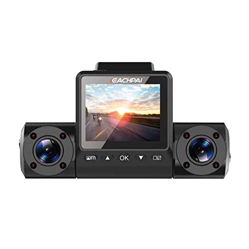 Dash cam,EACHPAI Upgrade Vesion X200 Dual 2.0MP Full HD 1080P Night Vision Dashboard Camera,270°Rotary Ultra Wide Angle Super Capacitor Recorder ADAS,Motion Detection,Loop Recording 32GB