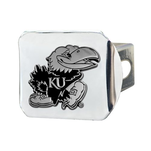 FANMATS NCAA University of Kansas Jayhawks Chrome Hitch Cover by Fanmats