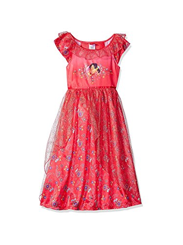 Disney Little Girls' Elena of Avalor Fantasy Nightgown, Red, 6