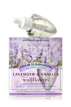 Bath & Body Works Wallflowers Home Fragrance Refill Bulbs Lavender & Vanilla 2 Pack