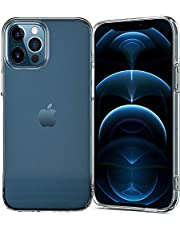 TERSELY Clear Case Cover for Apple iPhone 12 Pro/iPhone 12 (6.1 inch), Air Hybrid Slim Fit Shockproof Crystal TPU Bumper Protective Case Cover for iPhone 12 Pro [Suits Wireless Charger]