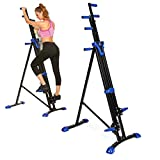 Bestlucky Vertical Climber Exercise Folding Climbing Machine Fitness Stepper Exercise Machine Stair Climber Cardio for Home Gym (US Stock)
