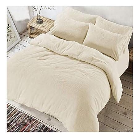 Copripiumino In Pile.Luxury Cream Teddy Bear Doppia Protezione Set Copripiumino Con