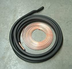 3/8 3/4 50' Insulated Line Set for Central Heating and Air Conditioner Systems