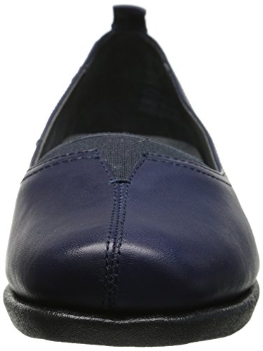 Hush Puppies Womens Pearl Carlisle Instappers Loafer Marine Leer