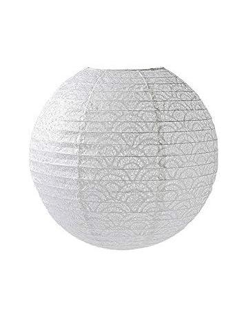 Abat Jour Ovale Design Japon Boule De Papier Blanc ø 40 Cm