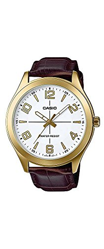 Casio-MTP-VX01GL-7B-Mens-Gold-Tone-Leather-Band-Big-Case-White-Dial-Watch