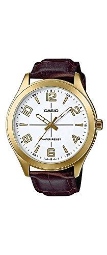Casio-MTP-VX01GL-7B-Mens-Gold-Tone-Leather-Band-Big-Case-White-Dial-Watch