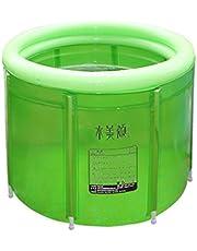 HCJCQYG ®GUORONG Bañera Inflable, Adulto Bañera Plegable Baño Doble Barril Baño Plegable de plástico Grueso cálido Bañera