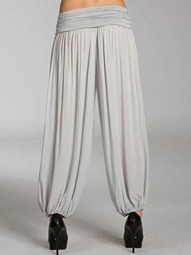 Casual Clair Pour Caspar Khs035 Gris Femme Bouffant Pantalon qtHtR