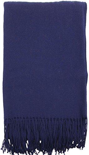 EPYA Soft Cozy Woven Winter Tassel Throw Blanket Solid Color