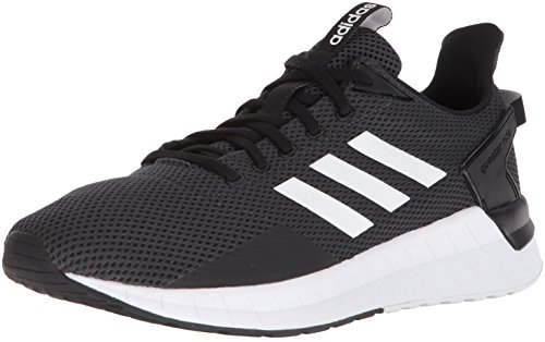 adidas Men's Questar Ride Running Shoe, Black/White/Carbon, 9.5 M US
