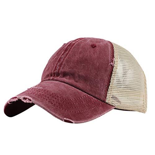 Unisex Baseball Visor Cap - Ponytail Messy Buns Trucker Plain Men Women Hat Adjustable Saturday Cap]()