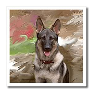 ht_3937_1 Dogs German Shepherd - German Shepherd - Iron on Heat Transfers - 8x8 Iron on Heat Transfer for White Material