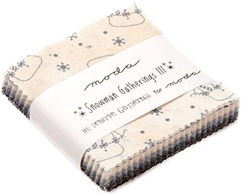 Snowman Gatherings III Mini Charm Pack by Primitive Gatherings; 42-2.5