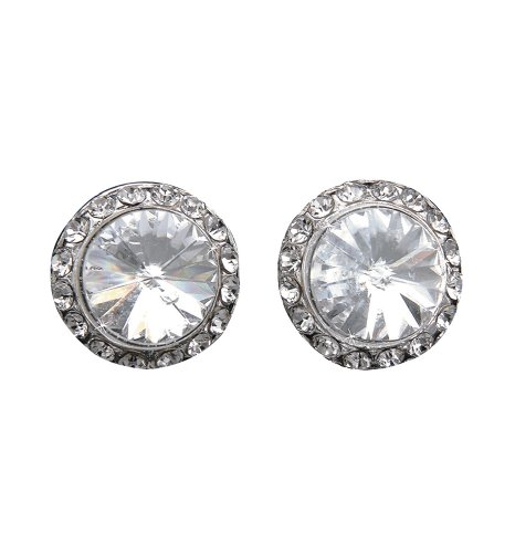 10mm Celestial Button Clip-On Earrings,EC8AS,multi-colored,One-Size