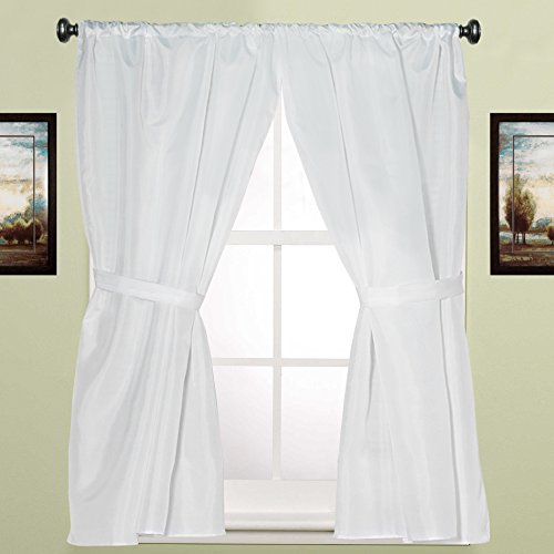 - Sweet Home Collection Fabric Bathroom Window Curtain Hotel Quality Set of Two Durable 36