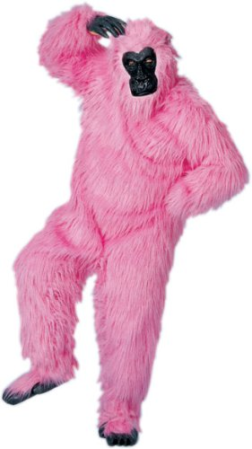 Gorilla Suit (pink) Adult Halloween Costume Size -