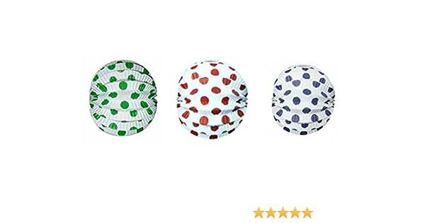 Farolillo Esferico 22cm 12 Unidades Lunares 3 Colores: Amazon.es: Oficina y papelería