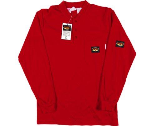 Rasco FR Men's Red Henley T-Shirt